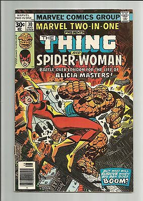 MARVEL TWO-IN-ONE # 30 - THING AND SPIDER-WOMAN! 2nd FULL APPEAR OF SPIDER-WOMAN