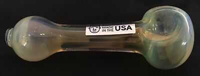 """Color Changing Silver Fumed Glass tobacco pipe 3.5"""" MADE IN U.S.A Free Shipping"""