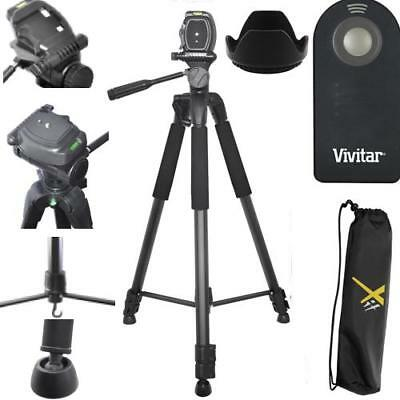 "75"" Pro Tripod + Remote Control+ 58Mm Hood For Canon Eos Rebel T3I T5I T6 T7 T7I"