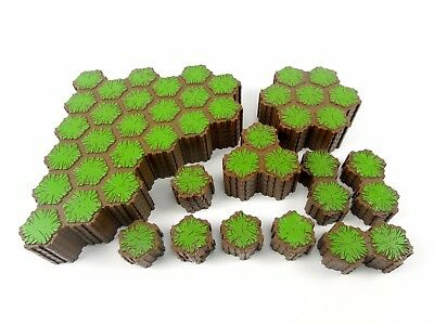 223 Hexes of Grass Terrain ~ HeroScape Lot Replacement Game Land Tiles