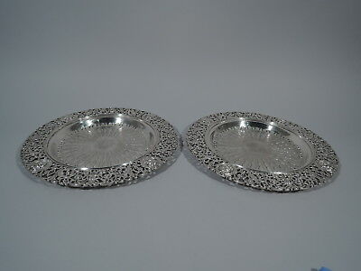 Howard Trays - Antique Renaissance Plates - American Sterling Silver - 1894