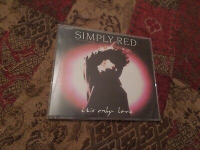 "Simply Red It's Only Love RARE 3"" CD Single + Plastic Adapter"