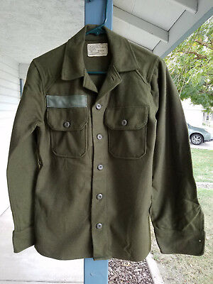Genuine US Military WOOL FIELD SHIRT Cold Weather Winter Hunting X-SMALL - NEW