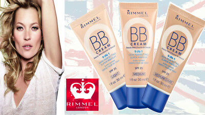 Rimmel BB Cream 9 in 1 Skin Perfecting Super Make up 30ml FULL SIZE choose shade