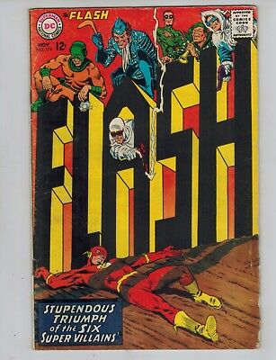 The Flash 174 vs The Rogues Gallery!   1967 DC Comics Fine-