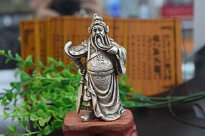 Collection of majestic loyalty Miao silver handmade Wu God of Wealth - Guan Gong