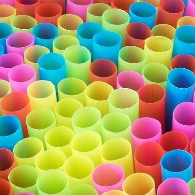 """Choice 8 1/2"""" Colossal Neon Unwrapped Straw - 4000/Case"""