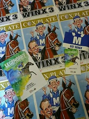 Winx Limited Edition Poster, Winx Flag, Cox Plate Race Book