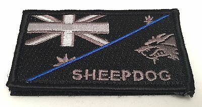Thin Blue Line, Sheepdog, Police Patch, Hook, Law Enforcement, TBL,  Subdued