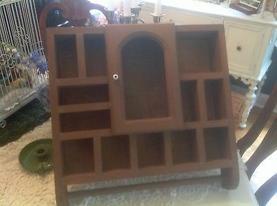 "Beautiful Vintage Wooden Hand Made Shadow Box ~20 X 19 X 3.5""~Nice!"