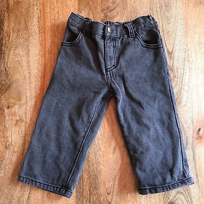 DKNY Toddler Baby Boys Jeans Pants Gray Denim Flat Front Size 12 Months