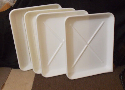 1 Lot (Set Of (4) Four 16 X 20 Inch Poly Developing Trays Excellent Condition