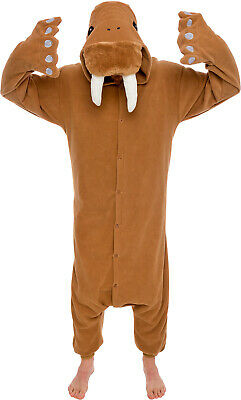 SILVER LILLY Unisex Adult Plush Walrus Animal Cosplay Costume Pajamas