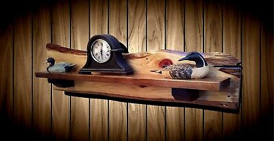Rustic Fireplace Mantel Shelf Live Edge Cypress Pine Mantle Cabin Handcrafted