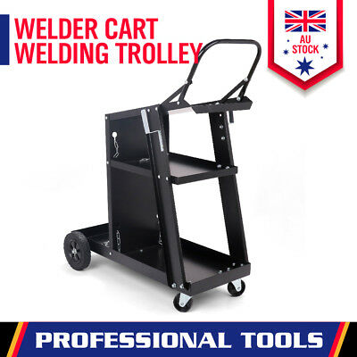 Heavy Duty Welding Cart Trolley MIG TIG ARC Welder Plasma Cutter Bench Storage