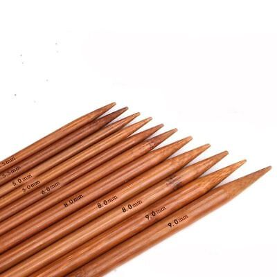 "4PCS/Set Bamboo Double Pointed Knitting Smooth Needles Sock DPN 14"" Long Needle"