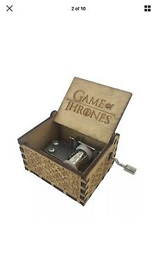 GAME OF THRONES Theme Music Box Engraved Wooden Music Box Crafts Kid Xmas Gifts