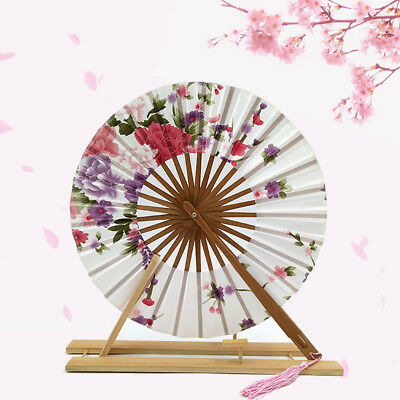 Circular Windmill Print Folding Fan Home Furnish Gift Ornaments No Base