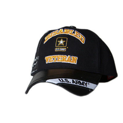 eaa057015f4b2 US Honor Embroidered Official Veteran Disabled Army Star Baseball Caps Hats