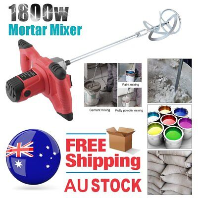 NEW Drywall Mortar Mixer 1800W Plaster Cement Tile Adhesive Render Paint AUSTOCK