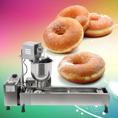 3KW Business Automatic Donut Maker Making Machine,Wide Oil Tank 3 Sets Free Mold
