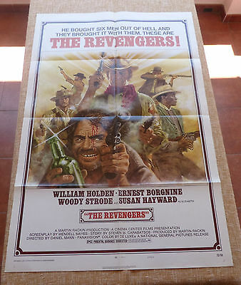 The Revengers Movie Poster, Original, Folded, One Sheet, year 1972, Style A, USA