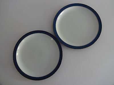 "Denby Imperial Blue 2 x 10.25"" Dinner Plates-lot 1"