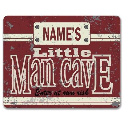 Personalised Little Man Cave - Vintage Metal Sign | Boys Bedroom Wall Art Decor