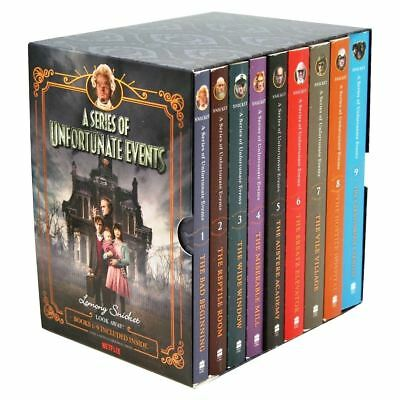Brand New Lemony Snicket A Series of Unfortunate Events Book Set 9 Books