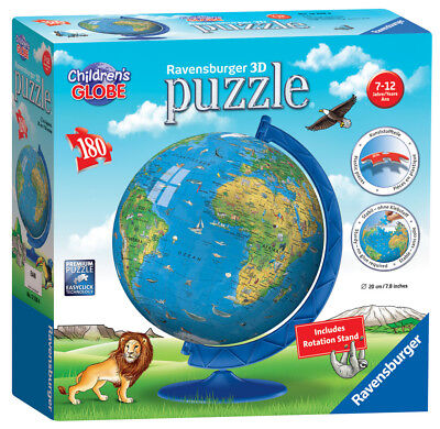 12338 Ravensburger Children's World Map 3D Puzzle 180pc Jigsaw Kids Age 7+