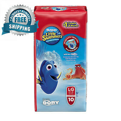 Huggies Little Swimmers Disposable Swim pants, Large, 10 Count Disney...