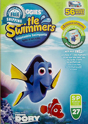 Huggies Little Swimmers Disposable Swimpants, Small, 27 Count - Bonus 56...
