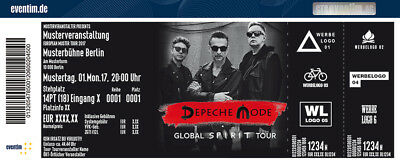 2 tickets depeche mode dm hamburg barclaycard arena karten o16 eur 315 00. Black Bedroom Furniture Sets. Home Design Ideas