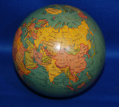 "A very interesting facsimile vintage style globe,approximately 4"" diameter, pink"