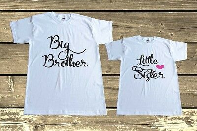 Big Brother Little Sister T shirts Set Matching Brother and Sister Outfit Gift