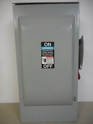 Siemens Gf224Nr 200 Amp 240 Volt Single Phase Fusible Outdoor Disconnect Safety