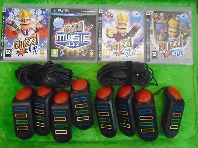 ps3 BUZZ! QUIZ GAMES + BUZZERS - Make Your Selection Multiplayer Family Trivia