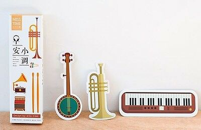 Musical Instruments Book Marks Set/Pack 30 Pieces