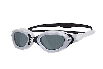 Zoggs Predator Polarized Swimming Goggles Flex Smoked with High UV Protection