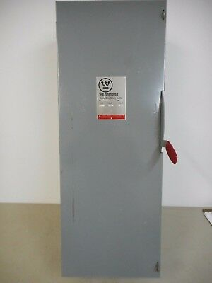 Westinghouse Hfn324 200 Amp 240V Fusible Indoor 3 Phase Disconnect Safety Switch