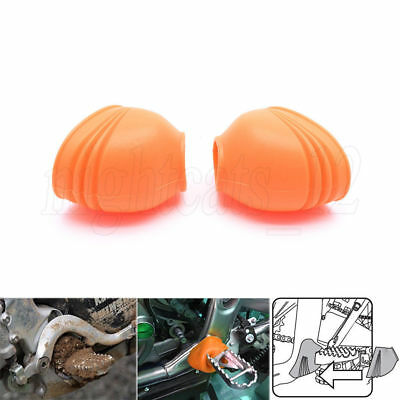 Orange Foot Peg Covers Spring Boots for KTM Dirtbike MX SX SXF EXCF XC F XCW SMR