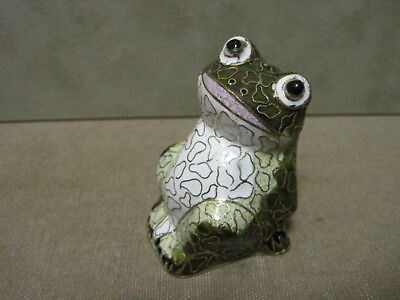 Cloisonne Multi Colored and well designed figure of a Frog