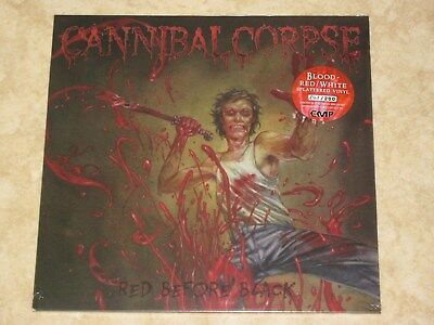 Cannibal Corpse- Red Before Black/ BLOOD RED/ WHITE SPLATTERED Vinyl LP/ Ltd 200