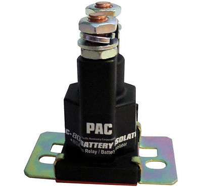 Pac 80 Amp Power Relay Dual Battery Isolator 12V High Current 150 Surge Pac80