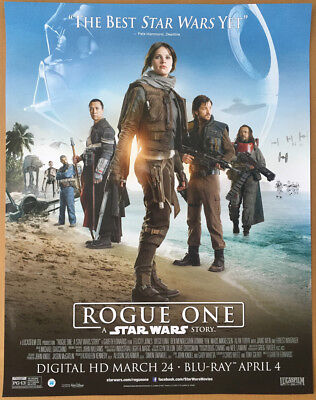 ROGUE ONE A STAR WARS STORY DVD MOVIE POSTER 1 Sided ORIGINAL MINI 22x28