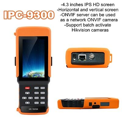"IPC-9300 4.3"" HD1080P Horizontal Vertical IP Camera Monitor Test Tester Wifi PTZ"