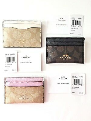 New Coach Signature Card Holder Case  F63279 New with Tags