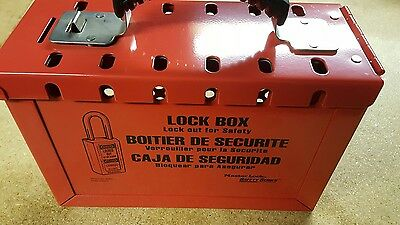 Master Lock Model 498A portable 12 lock lockout box