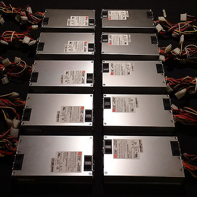 LOT - 10 Top Microsystems 1U 350 Watt Switching Server Power Supplies