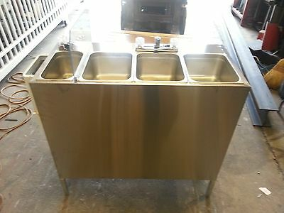 Portable Self Contained 4 Compartment Sink , Stainless, Food Truck Hot Water